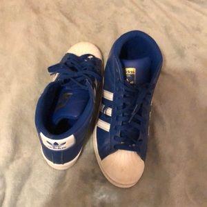 Blue & White Hightower Adidas Superstar